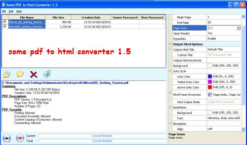 Free PDF to HTML converter, Mac PDF to HTML converter freeware
