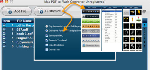 output pdf to flash flipping page mac