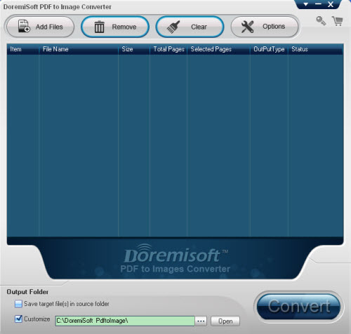 Doremisoft PDF to Images Converter
